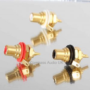 Neutrik NYS367 Gold RCA Phono CHASSIS SOCKETS Red Black