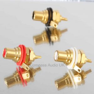 Neutrik NYS367 Gold RCA Phono CHASSIS SOCKETS Red White