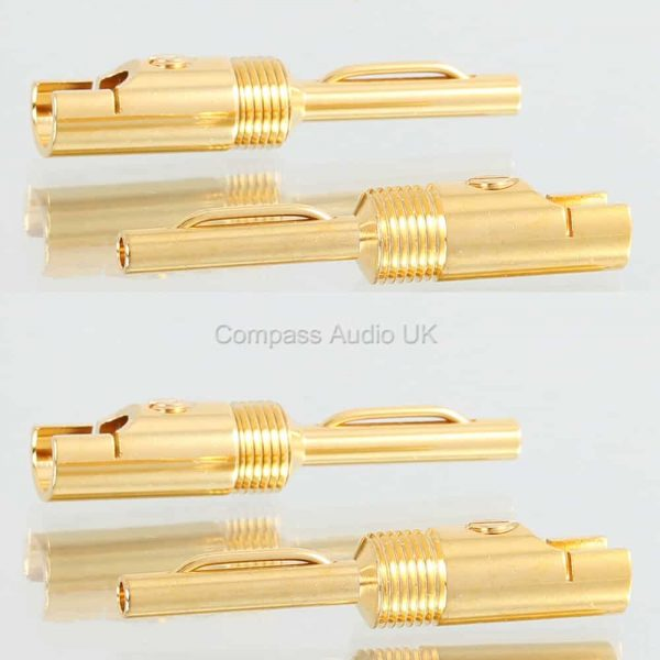 gold 4mm banana plugs large cable entry compass audio. Black Bedroom Furniture Sets. Home Design Ideas