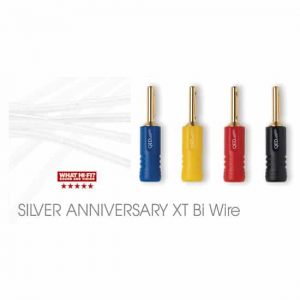 QED Silver Anniversary XT Bi-wire Cable ABS AIRLOC Plugs