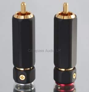 PRO PHONO RCA PLUGS Heavy Duty Locking Connectors