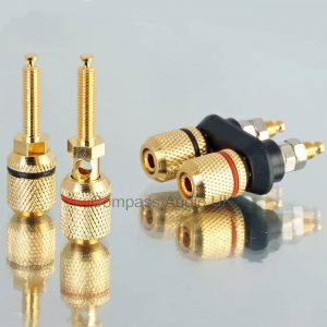 Heavy Duty 4mm BINDING POSTS Speaker Sockets DUAL Pairs