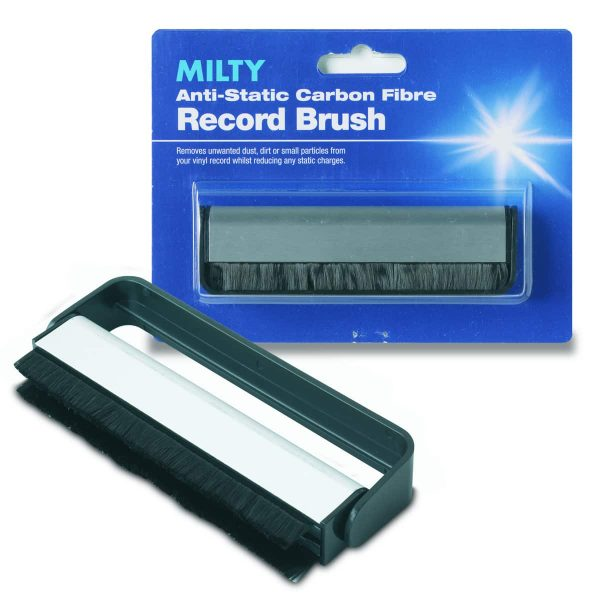 MILTY Anti-Static Carbon Fibre Record Brush