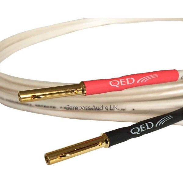 QED Performance Original Speaker Cable Airloc Plugs Heatshrink Terminated