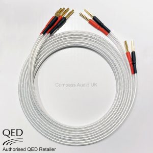 QED XT25 Performance Speaker Cable Crimped Banana Plugs Terminated