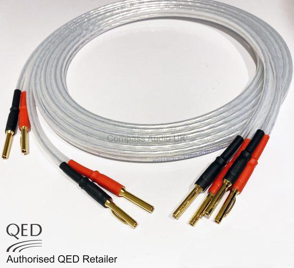 QED XT25 Speaker Cable Banana Plugs Heatshrink